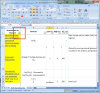 Locate the down arrow in the very top leftmost corner of the spreadsheet. (This is in cell A1.)